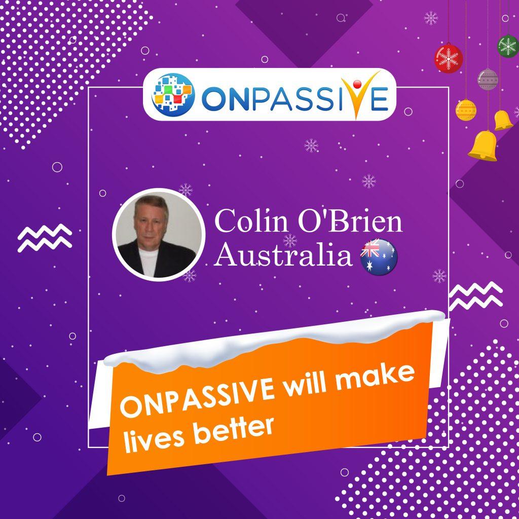 ONPASSIVE will make lives better