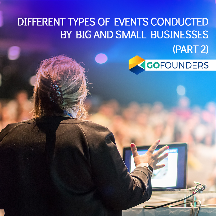 Types of Events by Small Business