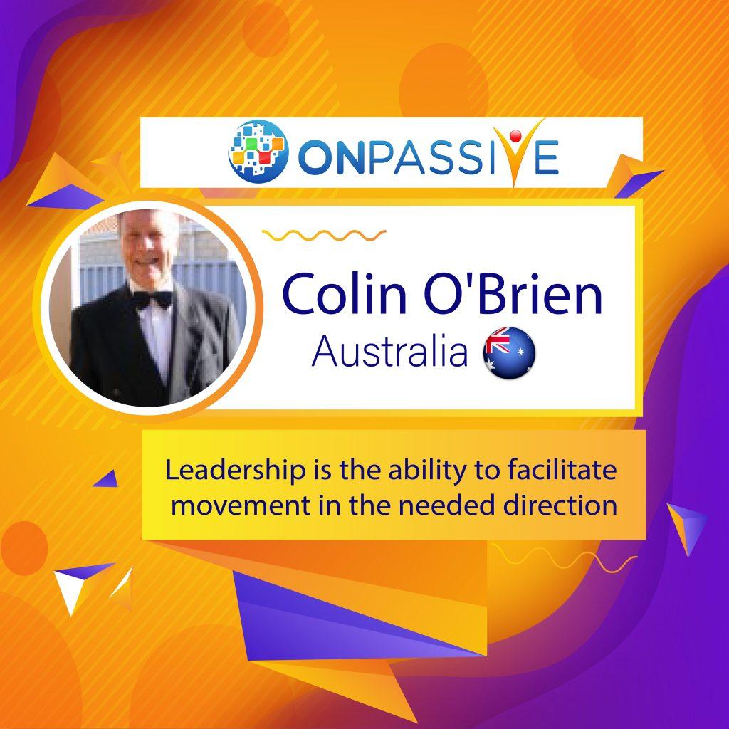 Colin O'Brien ONPASSIVE Community