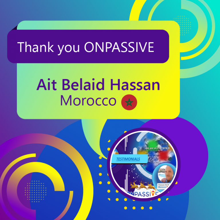 Thank you ONPASSIVE