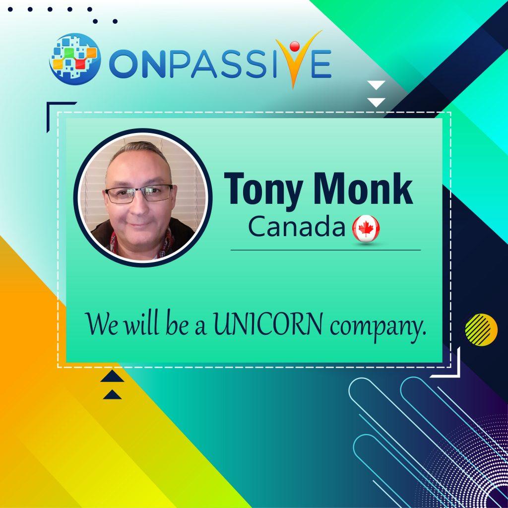 Tony Monk Onpassive Community