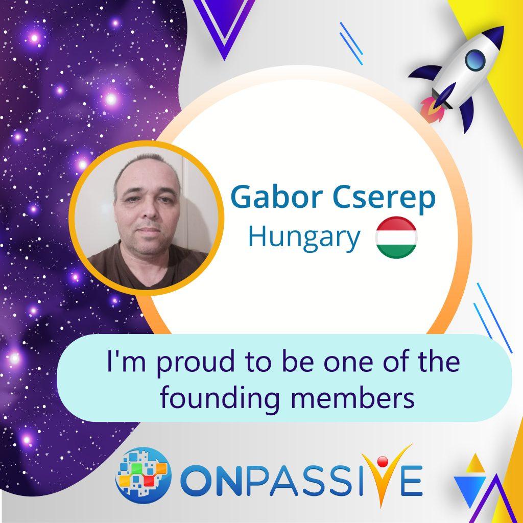 Gabor Cserep ONPASSIVE Testimonial