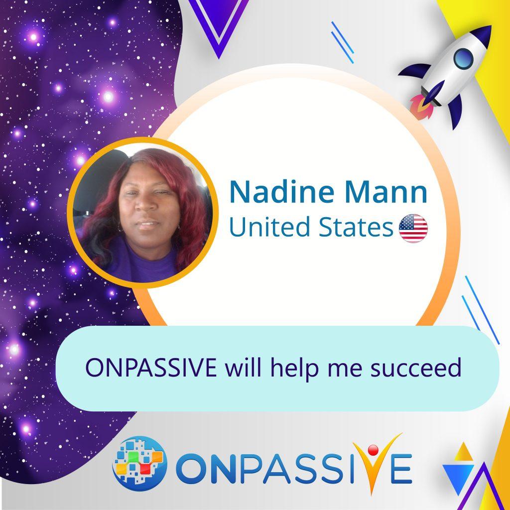 Nadine Mann ONPASSIVE Testimonial