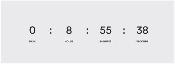 Timer on web page