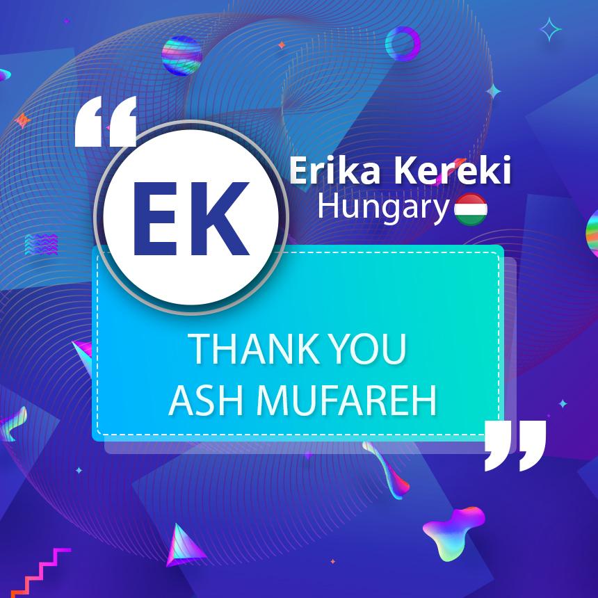 Thank you Ash Mufareh