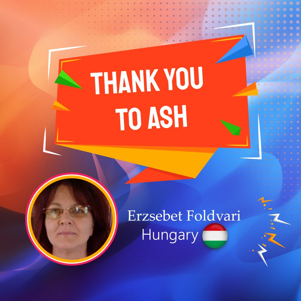 Thank you to ASH