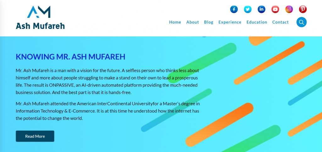 Ash Mufareh Website