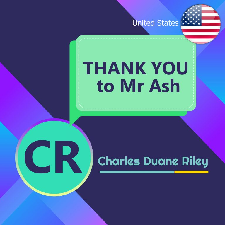 THANK YOU to Mr. Ash