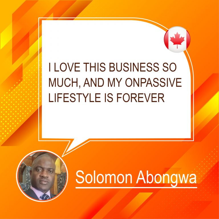 ONPASSIVE Lifestyle Solomon Abongwa