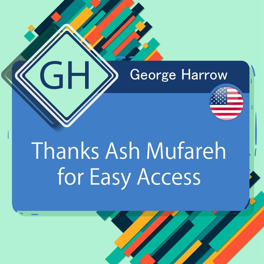 Thanks Ash Mufareh