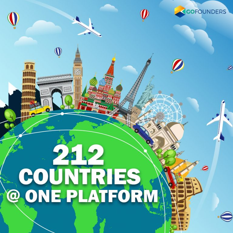 GoFounders Welcomes People from 212 Countries