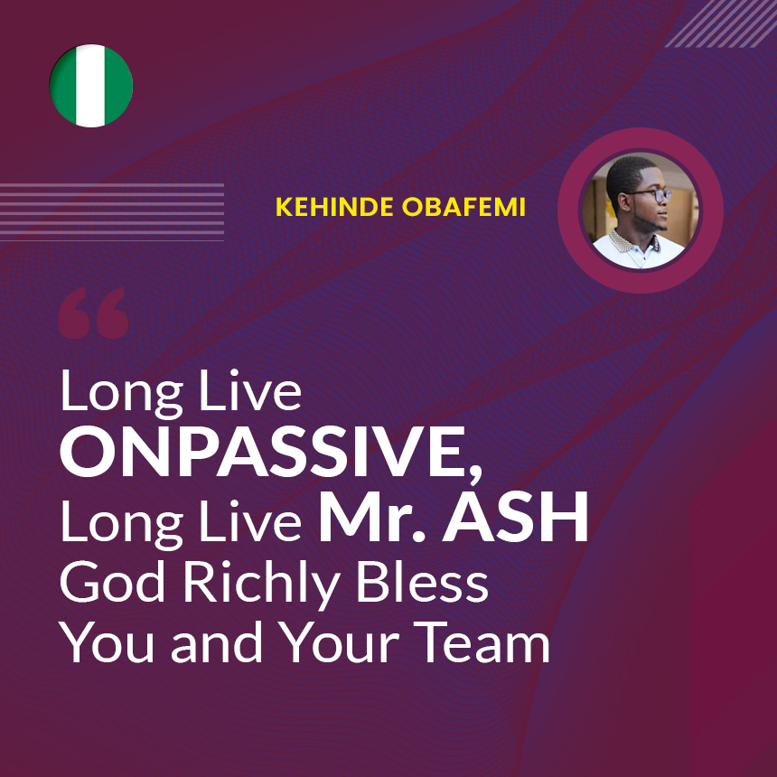 Long Live Mr. ASH God Richly Bless You and Your Team