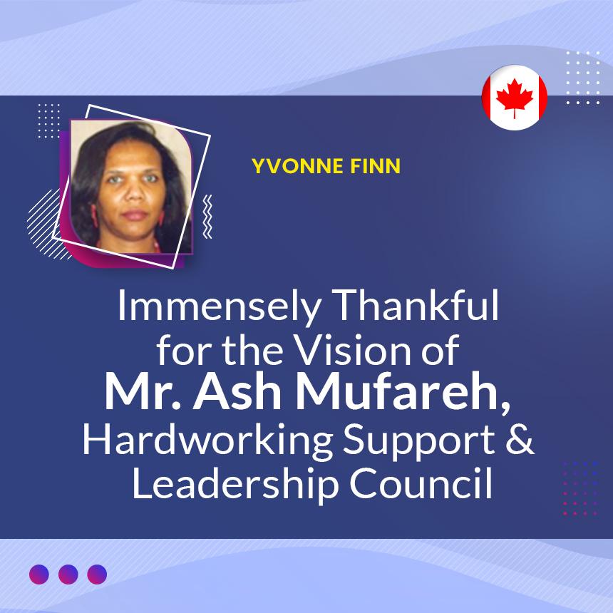 Mr. Ash Mufareh, Hardworking Support & Leadership Council