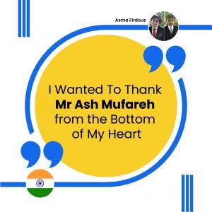 Thank Mr Ash Mufareh