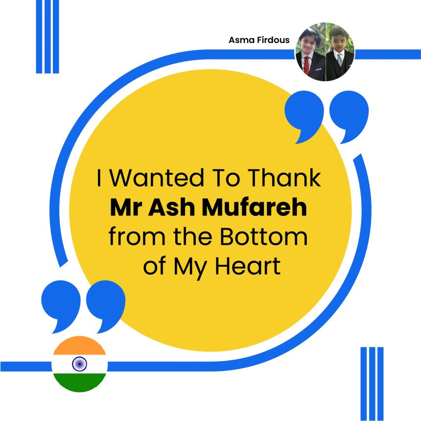 Thank Mr Ash Mufareh