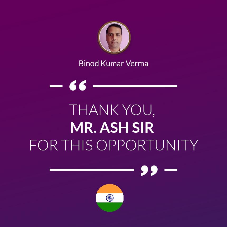 Thank You, MR. ASH