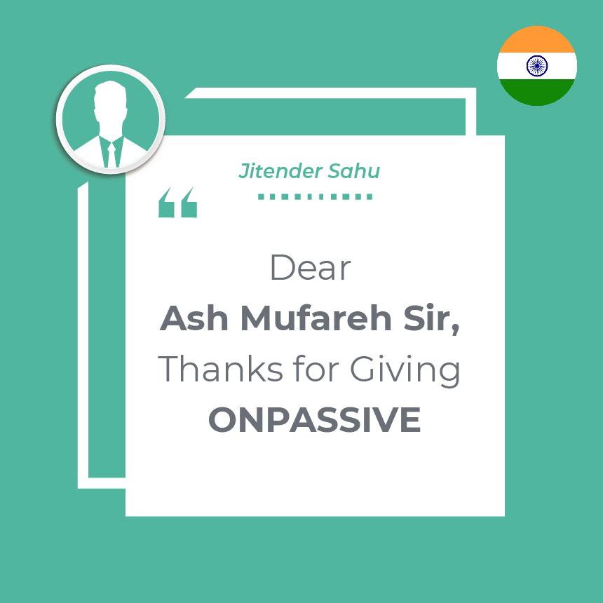 Thanks for Giving ONPASSIVE