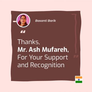 Mr. Ash Mufareh, For Your Support and Recognition