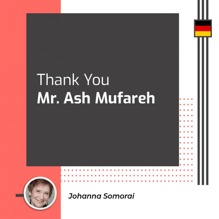 Thank You Mr. Ash Mufareh