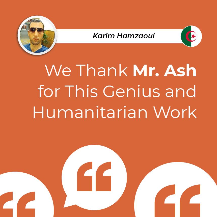 We Thank Mr. Ash