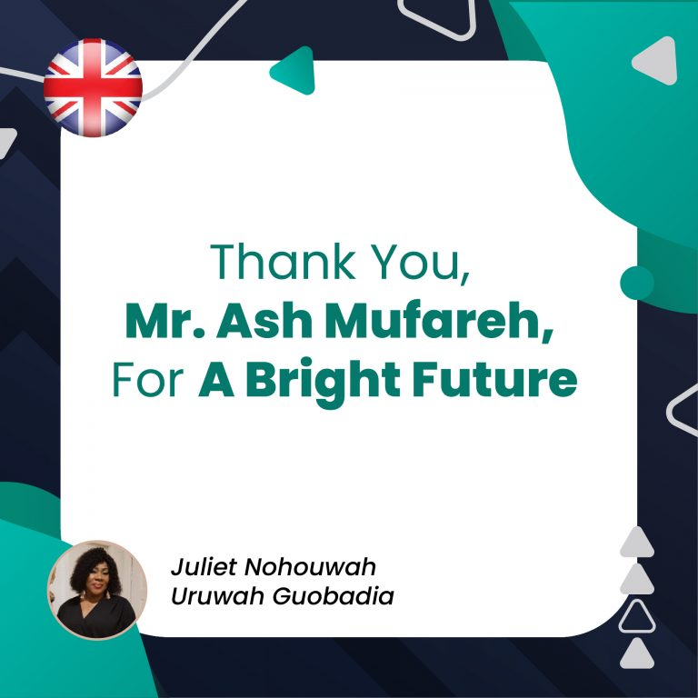 Thank You, Mr. Ash Mufareh