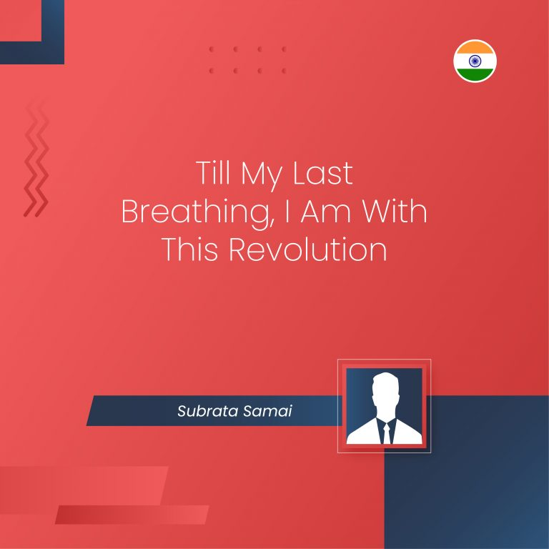Till My Last Breathing, I Am With This Revolution - ONPASSIVE