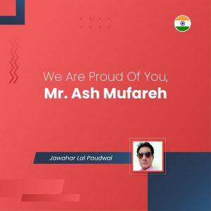 We Are Proud Of You, Mr. Ash Mufareh - ONPASSIVE
