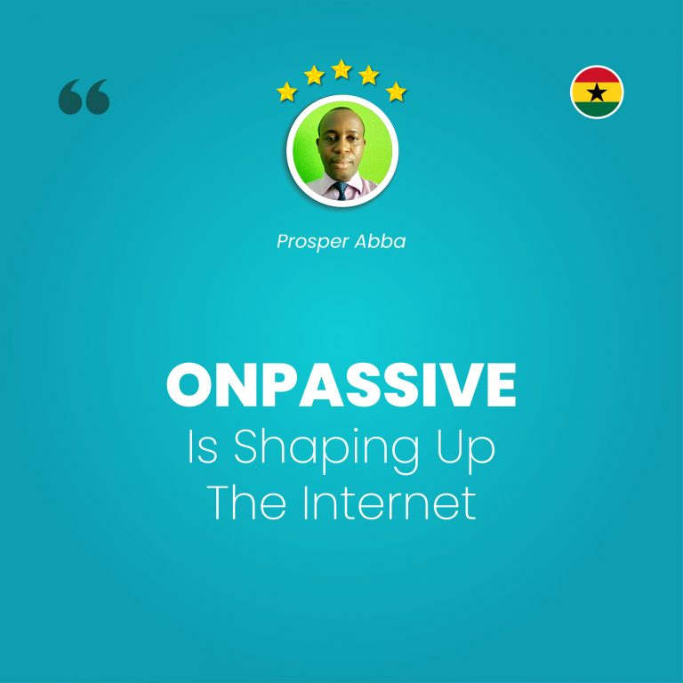 Greetings everyone, the train of ONPASSIVE is moving faster. We think to get fasten belt ready, ONPASSIVE is shaping up the internet, to get people on board as we move on the journey. Have a wonderful day. Thanks.