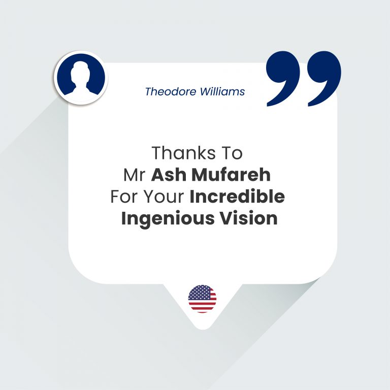 Thanks To Mr Ash Mufareh For Your Incredible Ingenious Vision